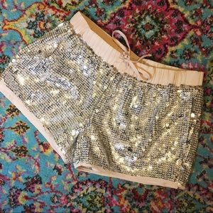 🍾  Gianni Bini Sequin Gym Shorts